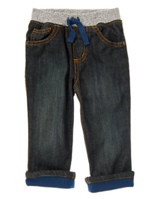 Toddler Boys Denim Cuffed Pull-On Jean by Gymboree