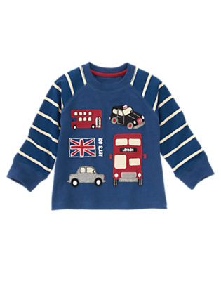 Toddler Boys Tower Blue Let's Go London Raglan Tee by Gymboree