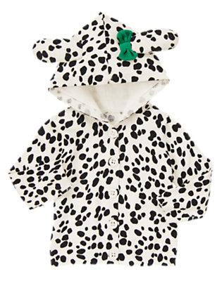 Ivory Dalmatian Dalmatian Sweater Hoodie by Gymboree
