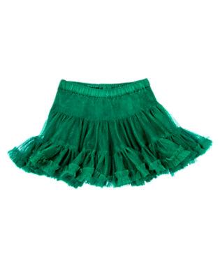 Toddler Girls Emerald Green Ruffle Tutu Skirt by Gymboree