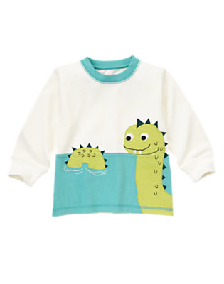Ivory Loch Ness Scenic Tee by Gymboree