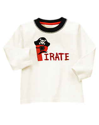 Toddler Boys Ivory Pirate Tee by Gymboree