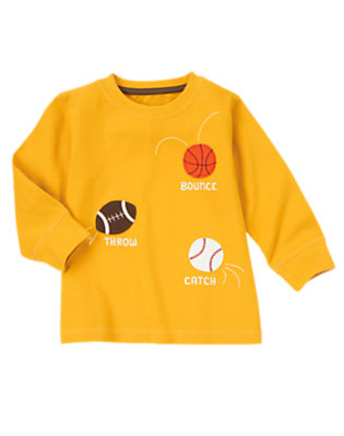 Toddler Boys Amber Yellow Sports Tee by Gymboree