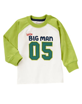 Toddler Boys Ivory Little Big Man Tee by Gymboree