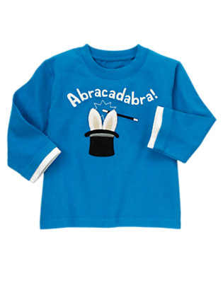 Magic Blue Abracadabra Tee by Gymboree