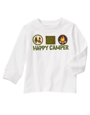 Toddler Boys White Happy Camper Tee by Gymboree