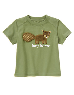 Spruce Green Busy Beaver Tee by Gymboree