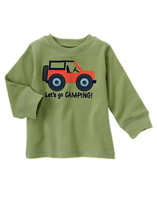 Toddler Boys Spruce Green Camp Jeep Tee by Gymboree