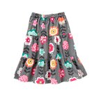 Graphic Floral Corduroy Skirt