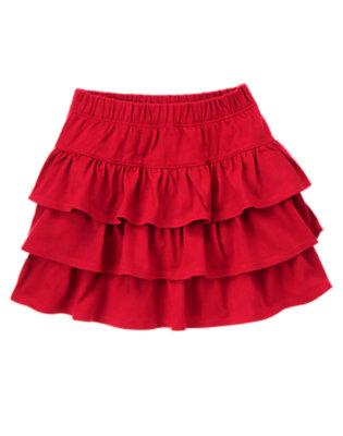 Girls Holiday Red Ruffle Skort by Gymboree