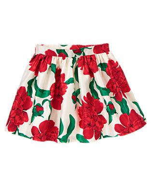 Girls Holiday Rose Rose Duppioni Skirt by Gymboree