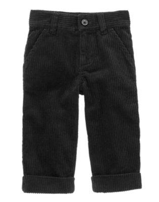 Toddler Boys Black Dressy Corduroy Pant by Gymboree