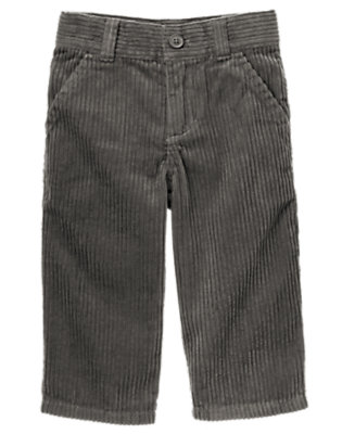 Toddler Boys Smoky Grey Dressy Corduroy Pant by Gymboree