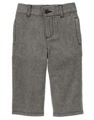 Grey Tweed Dressy Tweed Pant by Gymboree