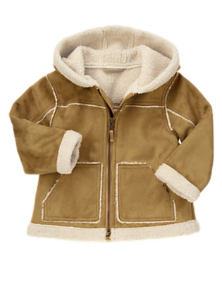 Toffee Brown Faux Suede Jacket by Gymboree