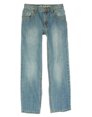 Boys Light Wash Denim Classic Jean by Gymboree
