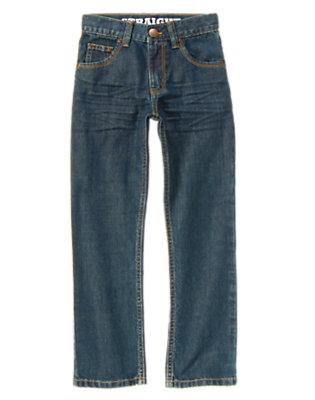 Boys Medium Wash Denim Straight Jean by Gymboree