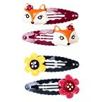 Fox Flower Snap Clip Four-Pack