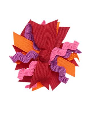 Toddler Girls Burgundy Ric Rac Ribbon Hair Clip by Gymboree