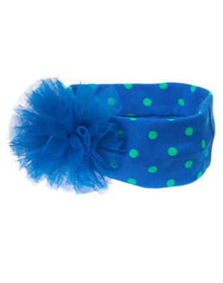 Toddler Girls Cobalt Blue Dot Tulle Dot Fruffle by Gymboree