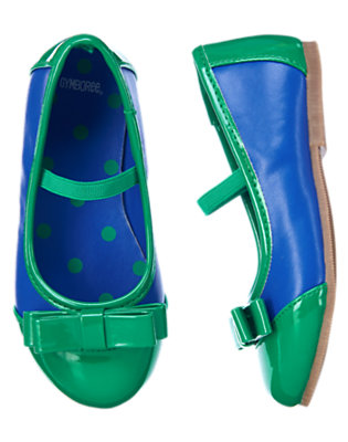 Toddler Girls Cobalt Blue Colorblock Ballet Flat by Gymboree