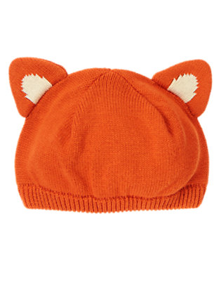 Fox Orange Fox Sweater Beanie by Gymboree