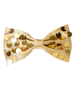 Metallic Gold Sequin Bow Hair Clip by Gymboree