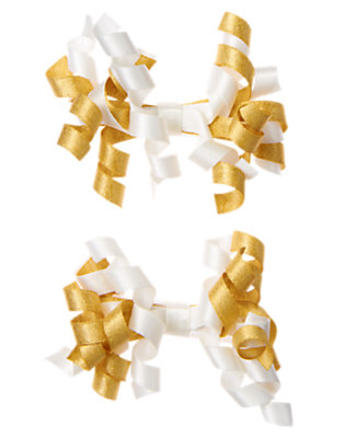 Metallic Gold Metallic Curly Hair Clip Two-Pack by Gymboree