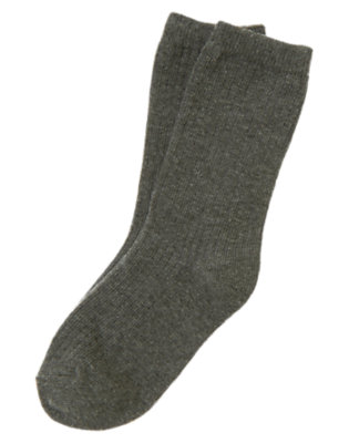 Boys Charcoal Grey Dressy Sock by Gymboree