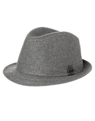 Grey Tweed Tweed Fedora by Gymboree