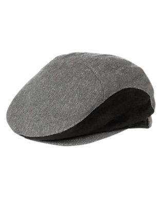 Grey Tweed Tweed Cap by Gymboree