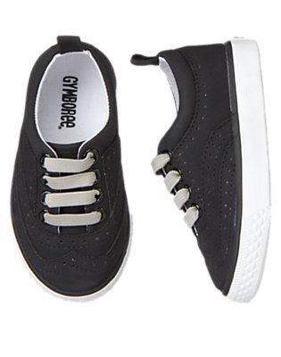 Black Wingtip Sneaker by Gymboree