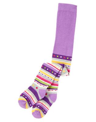 Bright Purple Fair Isle Fair Isle Stripe Tight by Gymboree
