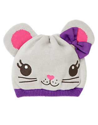 Mouse Grey Bow Mouse Sweater Hat by Gymboree