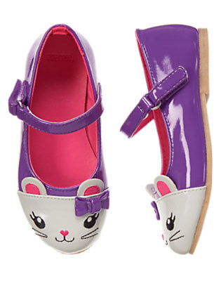 Toddler Girls Playful Purple Mouse Ballet Flat by Gymboree