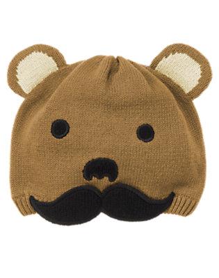 Cub Brown Bear Moustache Sweater Hat by Gymboree