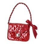 Bow Quilted Patent Purse