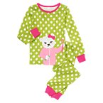 Bedtime Bear Polka Dot Two-Piece Gymmies®