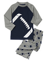 Football Two-Piece Pajama Set