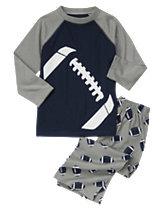 Football Two-Piece Pajama Set