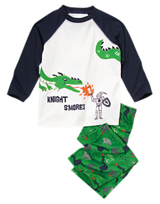 Toddler Boys Ivory Knight S'Mores Two-Piece Gymmies® by Gymboree