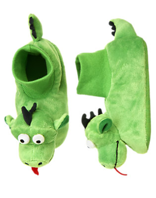 Dragon Green Fuzzy Dragon Slipper by Gymboree
