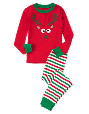 Red Reindeer Two-Piece Gymmies® by Gymboree