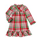 Plaid Flannel Pajama Gown
