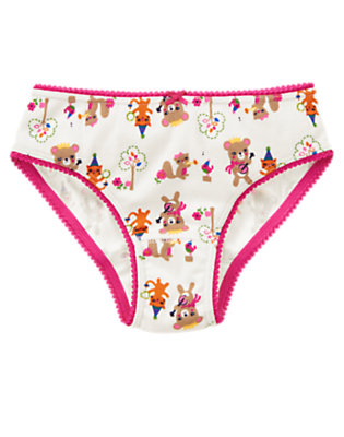 Toddler Girls Ivory Musical Animals Panty by Gymboree