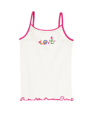 Toddler Girls Ivory Love Cami by Gymboree