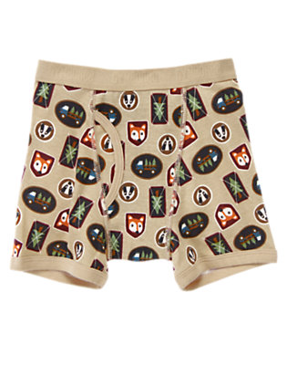 Toddler Boys Sand Fox & Badger Boxer Brief by Gymboree