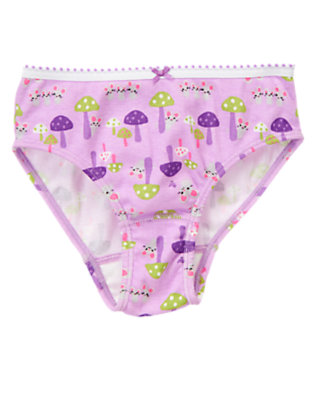 Toddler Girls Lavender Mouse Mushroom Mouse Panty by Gymboree