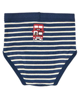 Toddler Boys Tower Blue Stripe London Bus Stripe Brief by Gymboree