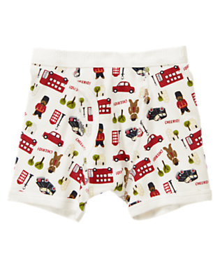 Toddler Boys Ivory London Bears Boxer Brief by Gymboree